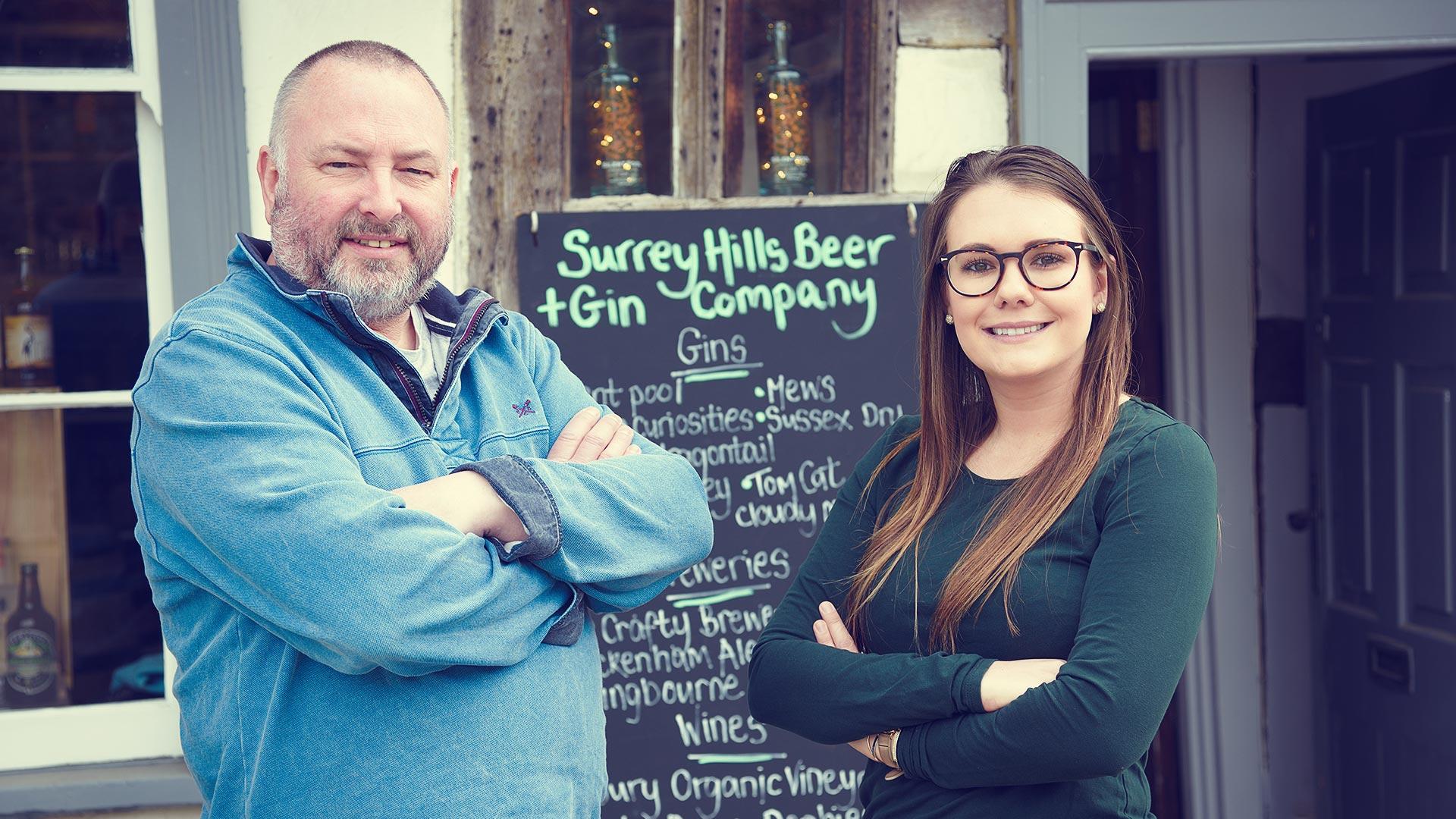 surrey-hills-beer-&-gin-company-steve-&-sophie
